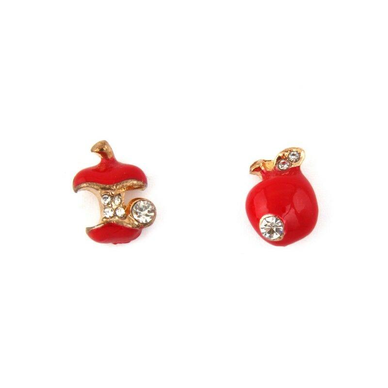Almás fülbevaló - piros