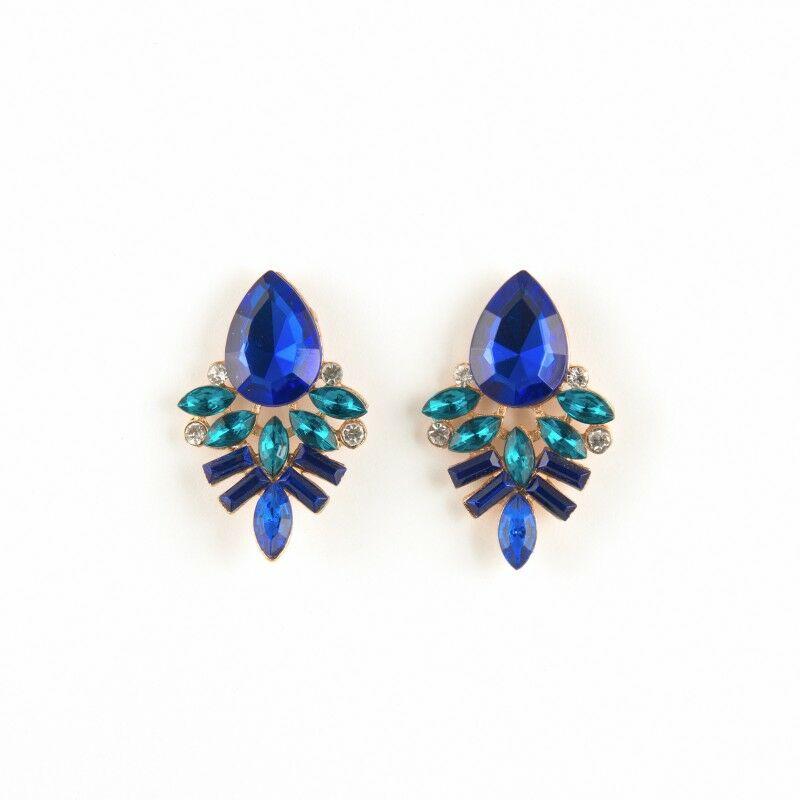 Design Lady Blue fülbevaló
