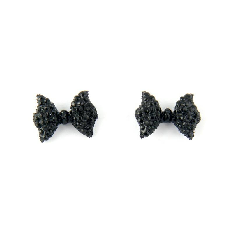 Masnis fülbevaló - fekete színű