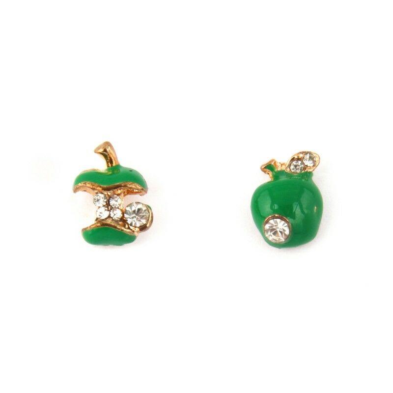 Almás fülbevaló - zöld