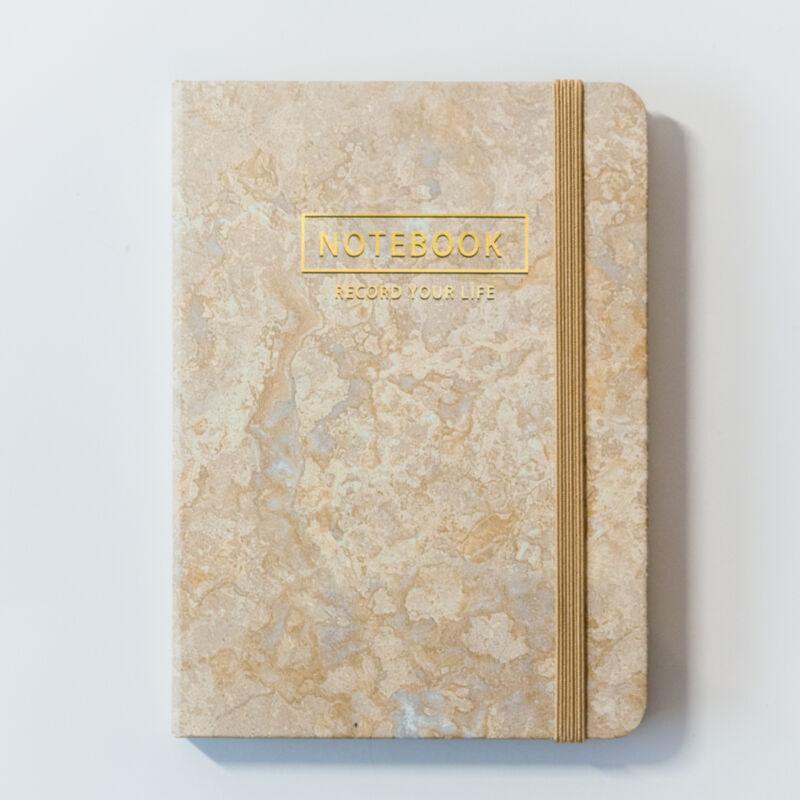 Arany színű márvány mintás notesz A6