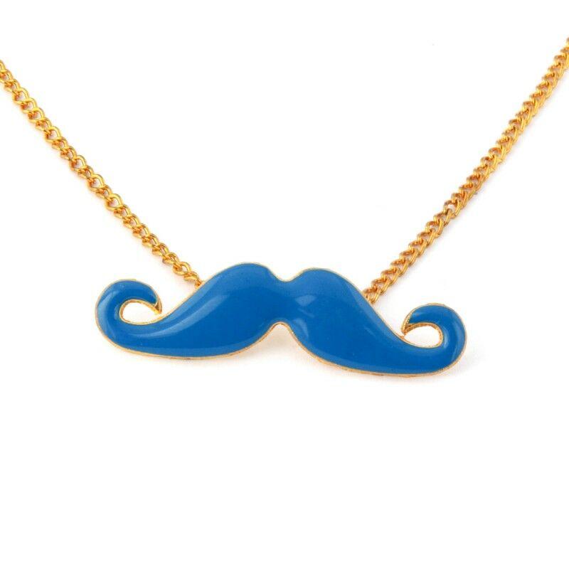Bajusz nyaklánc - kék
