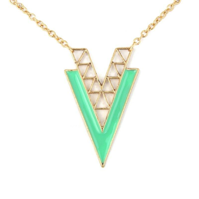 Vogue V nyaklánc - türkiz