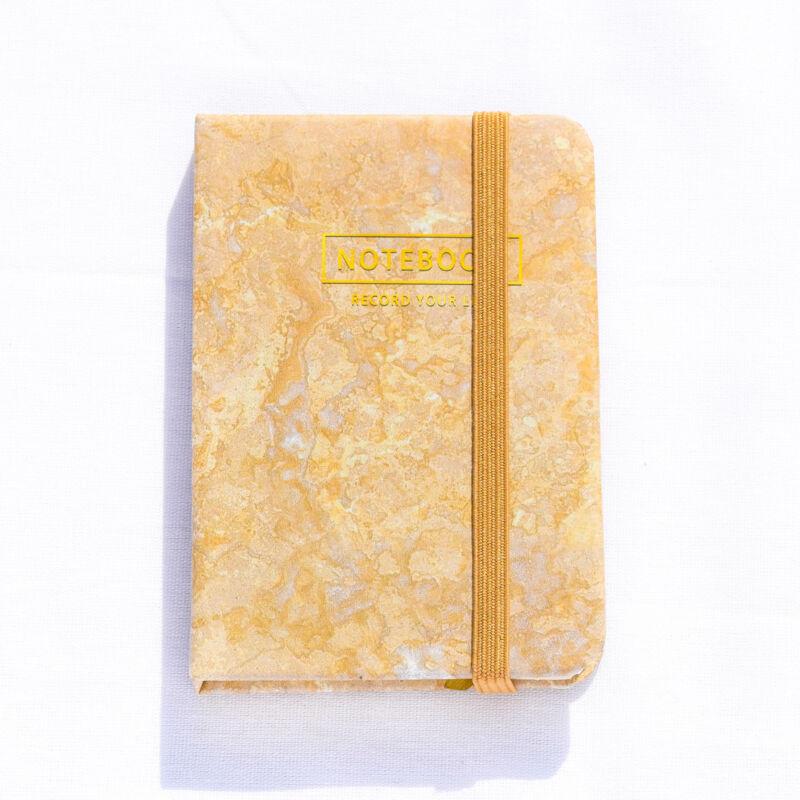 Arany színű márvány mintás notesz A7