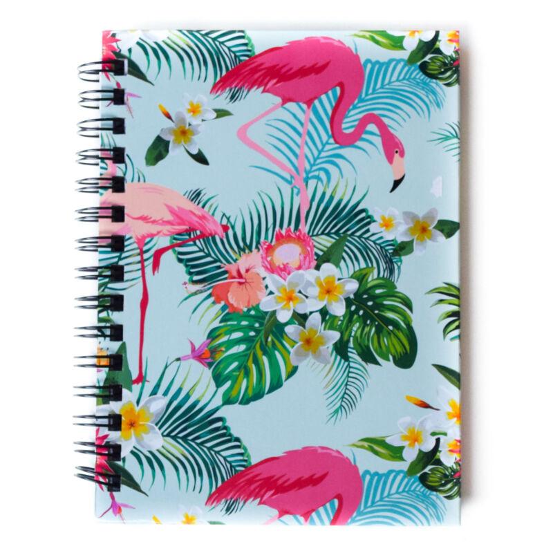 Flamingós Spirálos Notesz A6